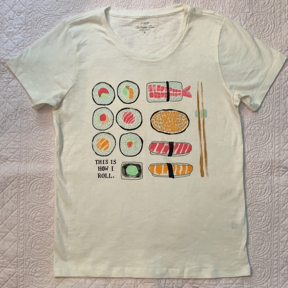 """J. Crew """"This is How I Roll"""" Collector Tees"""